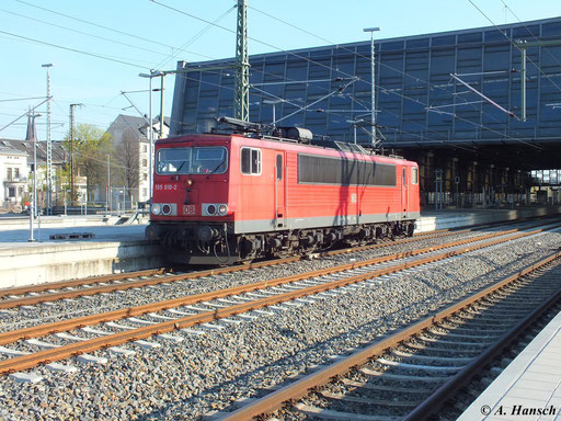 Am 24. April 2013 fuhr 155 010-2 Lz durch Chemnitz Hbf.