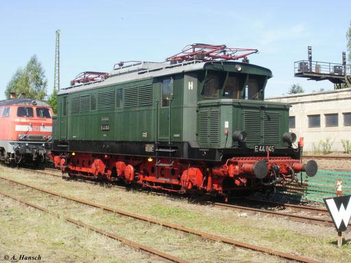 Zum 20. Heizhausfest des SEM Chemnitz am 21. August 2010 war auch E44 045 zu finden