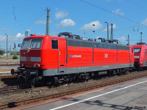 181 211-4 steht mit 101 124-6 in Leipzig Hbf. und wartet auf neue Aufgaben (22. Juni 2013)