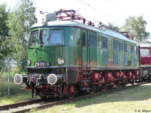 Ab 1970 wurden die Loks der BR E18 in BR 218 umgezeichnet