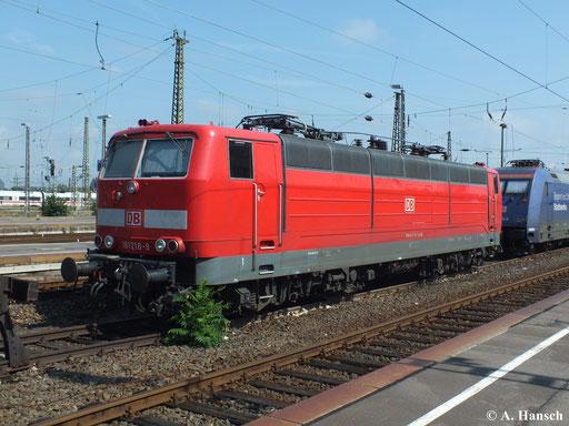 Ebenfalls Leipzig Hbf.: 181 218-9 am Haken von 101 100-6 (4. August 2013)