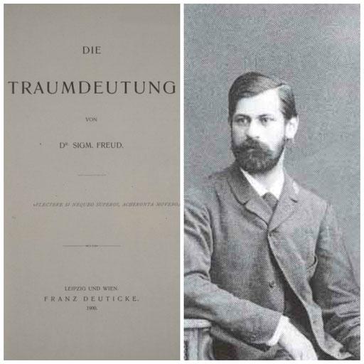 Die Traumdeutung der Erstauflage mit dem Vergil-Motto. Freud um 1902.