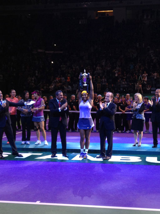 Ucom, WTA Finals, Serena Williams, Istanbul, November 2013