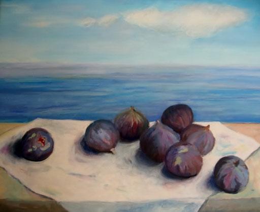 türkische Feigen, Acryl, 50x60