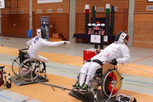 Rollstuhlfechten Wettkampf