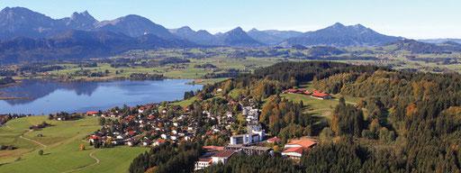 Blick auf den See von der Fachklinik Enzensberg