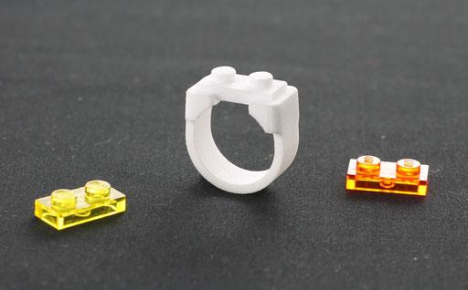 bague lego impression 3d marc le bigot cr ateur de bijoux contemporains. Black Bedroom Furniture Sets. Home Design Ideas