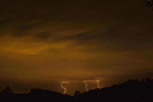 Blitze - mit Daniel fotografiert