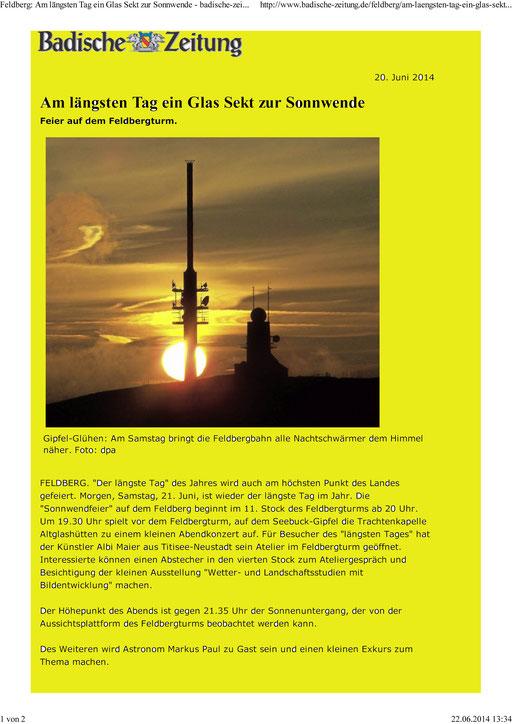 Leider konnte ich wegen Erkrankung an der Veranstaltung nicht den Vortrag und die Sonnenbeobachtung machen. Wir sehen Uns auf der Sternschnuppen-Nacht 2014!!!
