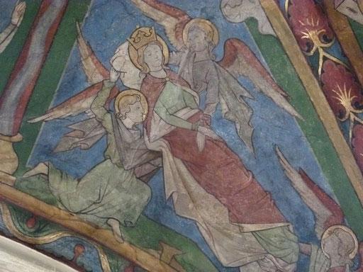 Katharina von Alexandrien Sankt Maria in Lyskirchen Koeln Benjamin Marx  Romanik Fresken