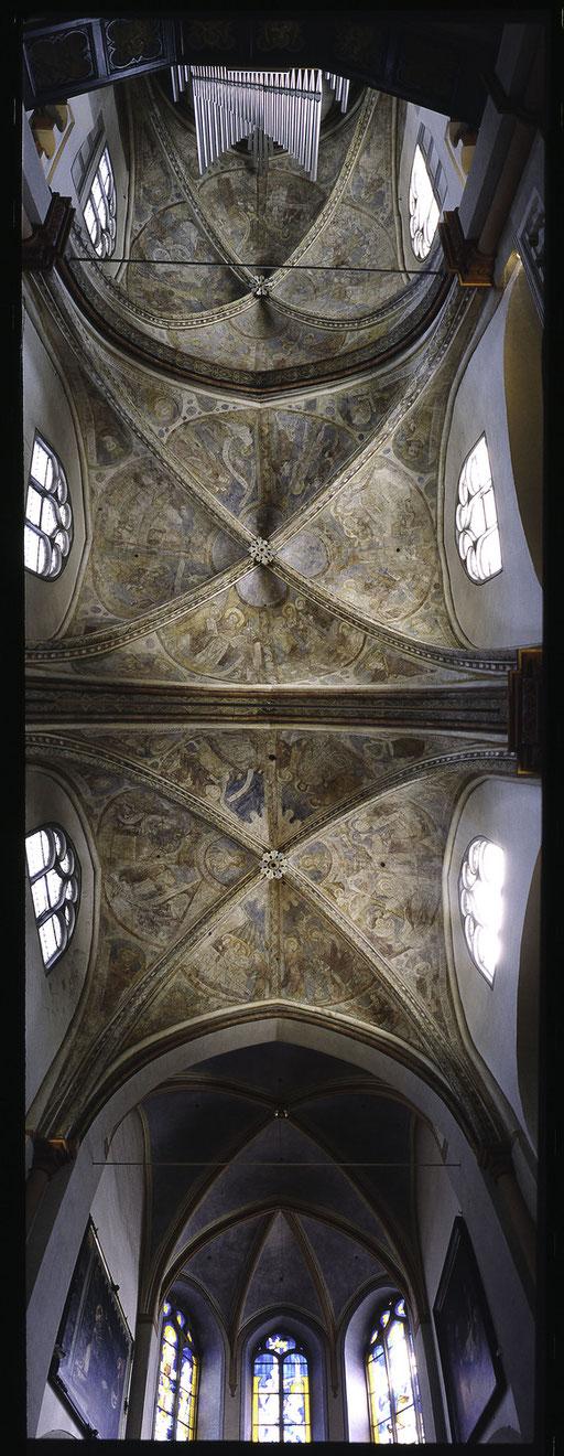 Fresken in sankt Maria in Lyskirchen 13. Jahrhundert Romanik Koeln Malerei