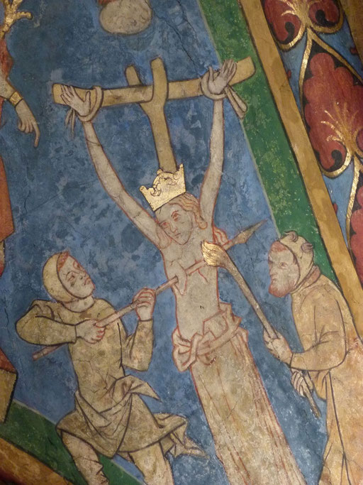 Katharina von Alexandrien Lyskirchen Fresken Romanik Koeln Benjamin Marx