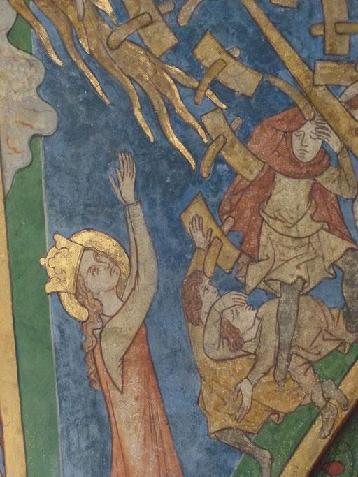 Katharina von Alexandrien Sankt Maria in Lyskirchen Benjamin Marx Koeln Romanik Fresken Koeln
