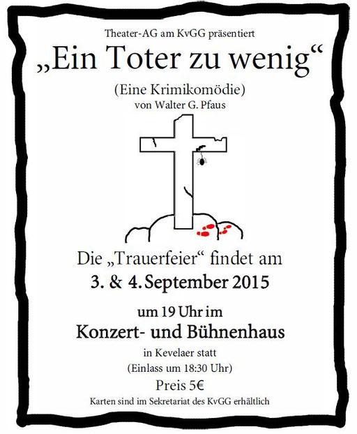 Plakat der Aufführung