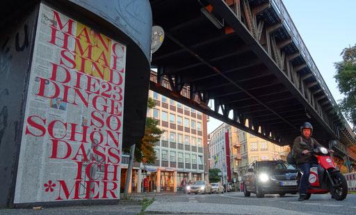 Hamburg - Berlinertordamm (Brücke Berliner Tor)