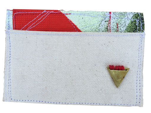 skinny wallet 2 - front | made out of canvas and fabric | SOLD | $30