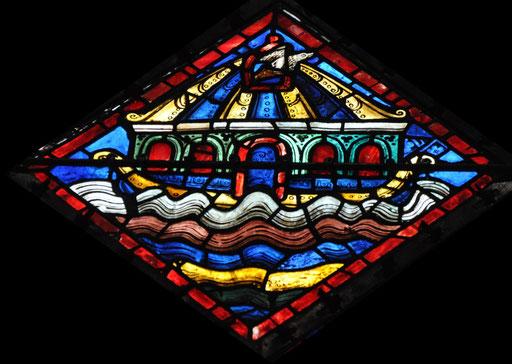 La colombe est envoyée hors de l'arche, cathédrale de Chartres
