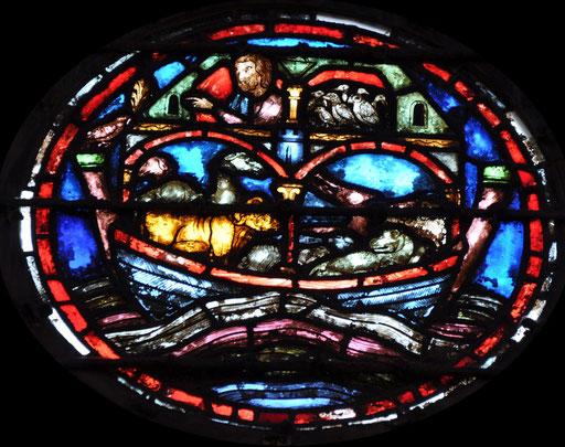 Noé et les animaux dans l'arche, Sainte-Chapelle, Paris