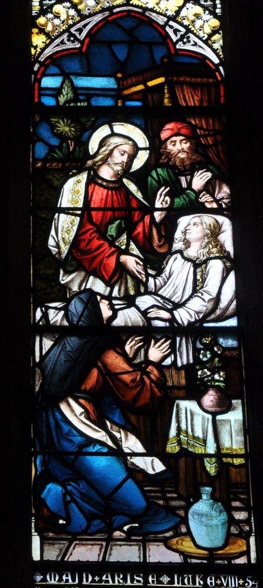 Jésus ressuscite la fille de Jaïrus, église St-Nicholas, Galway, Irlande