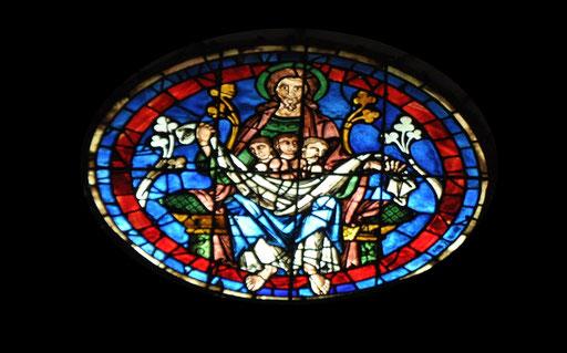 Dans le sein d'Abraham, cathédrale de Chartres