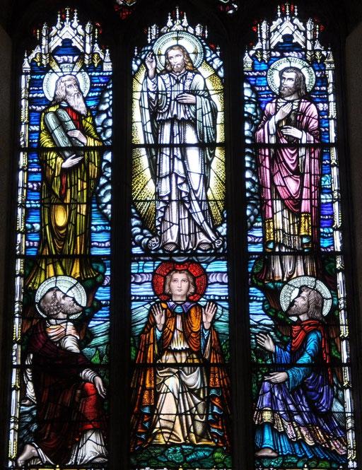 Vitrail de la Transfiguration, église St-Nicholas, Galway, Irlande