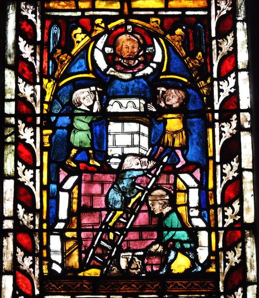 Construction de la tour de Babel, Temple St-Etienne, Mulhouse