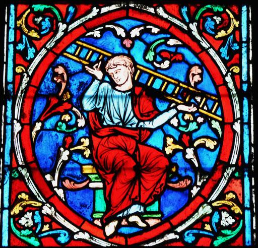 Jacob, vitrail de l'arbre de Jessé de Notre-Dame, Paris
