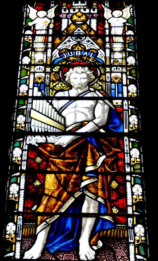 Jubal, descendant de Caïn, ancêtre des musiciens; Cathédrale de Dublin