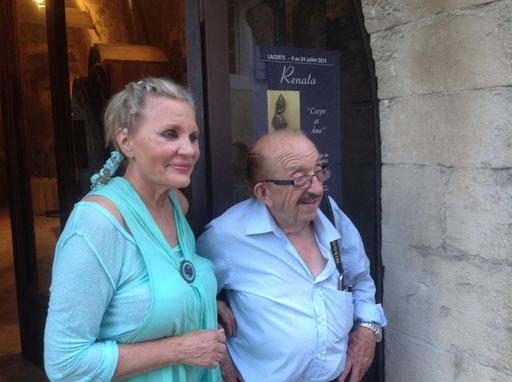 Avec le journaliste et ami Lucien Ricaud