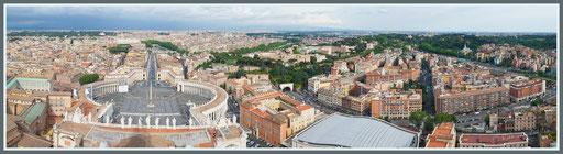 Panorama vanaf de Sint Pieter Baseliek, Rome