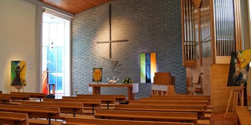 Vier meiner Bilder in der Johanneskirche