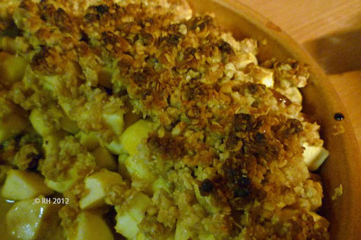 ... der Rest vom Apple-Crumble