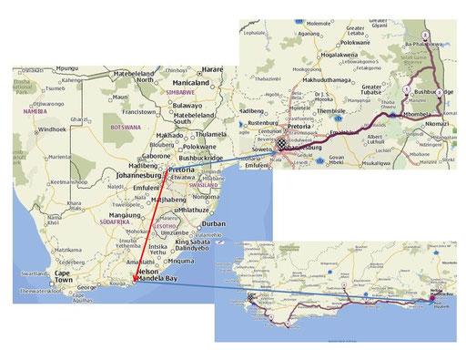 Route Südafrika 2012