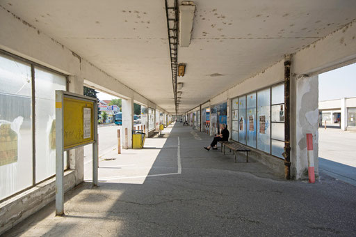 Bus station in Topolcany