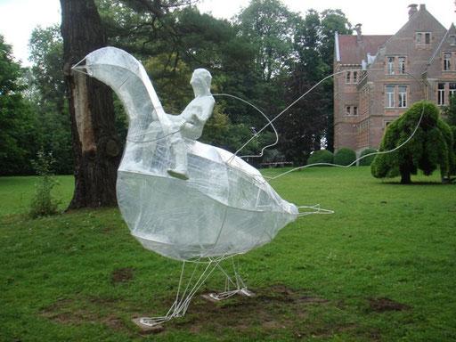 Melotte en de vogel  -  Papier maché