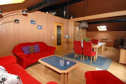 Wohnzimmer - Ferienwohnung Emmental