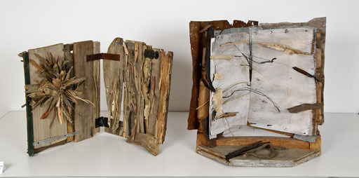 Books 2011  50x50x50 cm  wood and metal