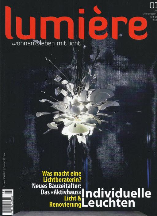 Titelbild der ersten Lumière und darin ein achtseitiger Bericht über mich und meine Arbeit