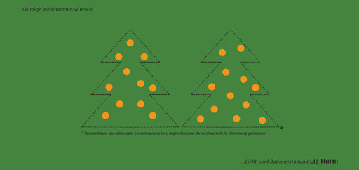 4. Themenkarte welche mit bäumigen Weihnachtsgrüssen verschickt wurde - Winterpause vom 20.12.14 bis und mit 04.01.15