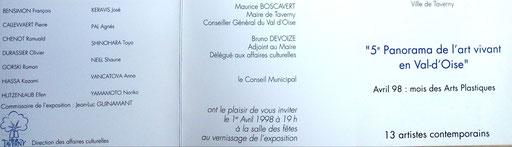 1998 - 5ème panorama de l'art vivant en Val d'Oise, Taverny - Roman Gorski