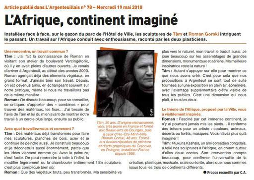 "2010 - "" Mai des artistes "" Argenteuil - Roman Gorski"