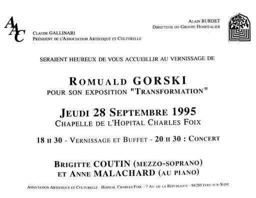 """1995 - """" Transformation """"  Chapelle de l'hôpital Charles Foix  Ivry-sur-Seine - Roman Gorski"""