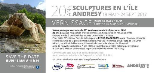 Sculptures en l'île du 19 mai au 24 septembre - installation de Roman GORSKI