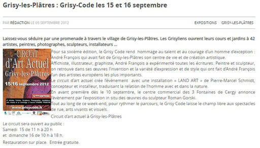 """2012 - """"Grisy code"""", Centre commercial Cergy 3 fontaines - Roman Gorski"""
