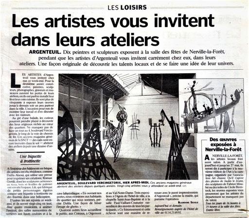 Le Parisien, mai 2001
