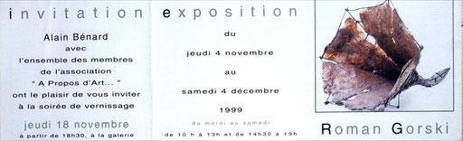 "1999 - Association ""A propos d'art"" Argenteuil - Roman Gorski"