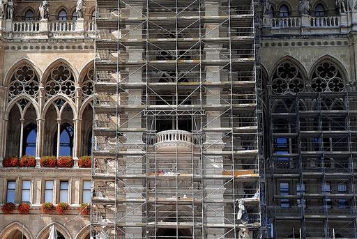 Wiener Rathaus, Frontalansicht nach der Renovierung, 14. Sept. 2020; Bildausschnitt ©: Memory Gaps