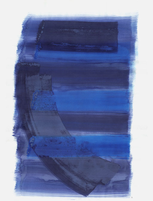 "Serie: ""Malva Schalek"". ""Denkmal 07"", 2018, Tusche auf Papier, 65 x 50cm; ©: Konstanze Sailer"