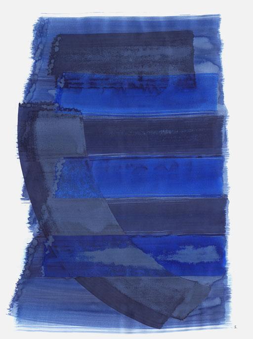 "Serie: ""Primo Levi"". ""Matisklo - Hurbinek"", 2018, Tusche auf Papier, 65 x 50cm; ©: Konstanze Sailer"