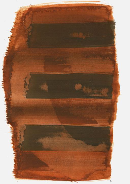"""Viktor Ullmann, Memorial 07"", 2020, Tusche auf Papier, 48 x 36cm; ©: Konstanze Sailer"